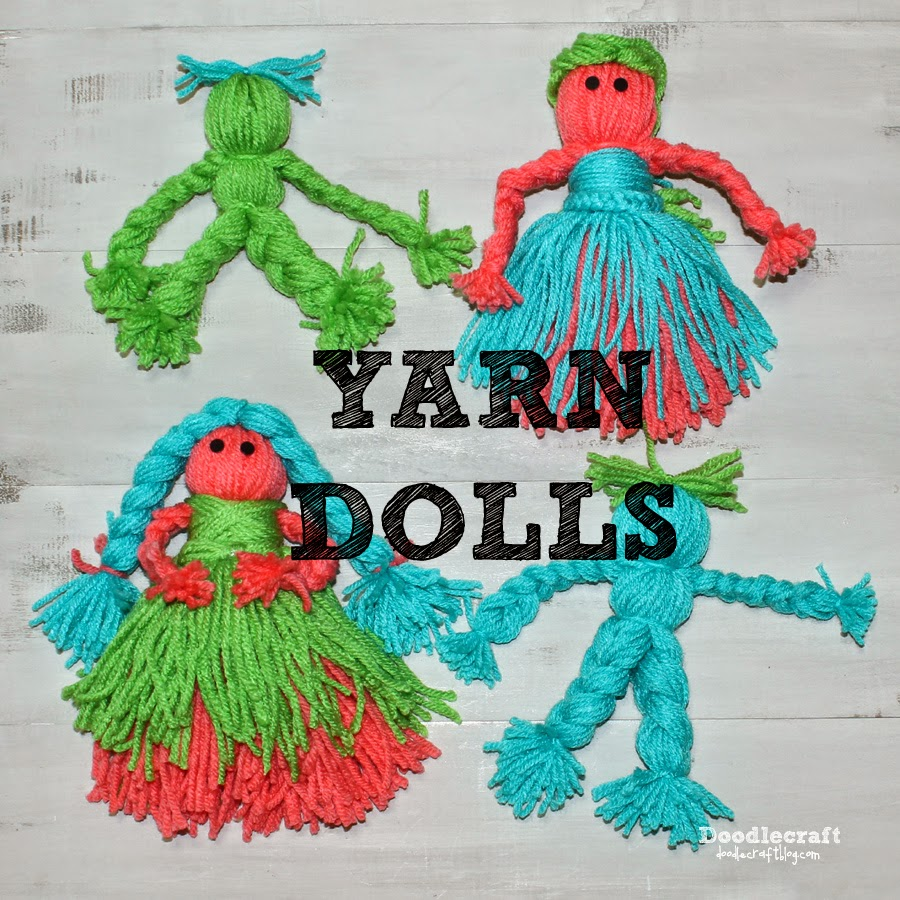 Yarn Crafts : Doodlecraft: Yarn Dolls!