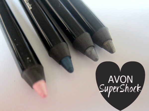 Avon Supershock Gel Eyeliners in Flash, Steel, Aqua Pop, Khaki Shimmer