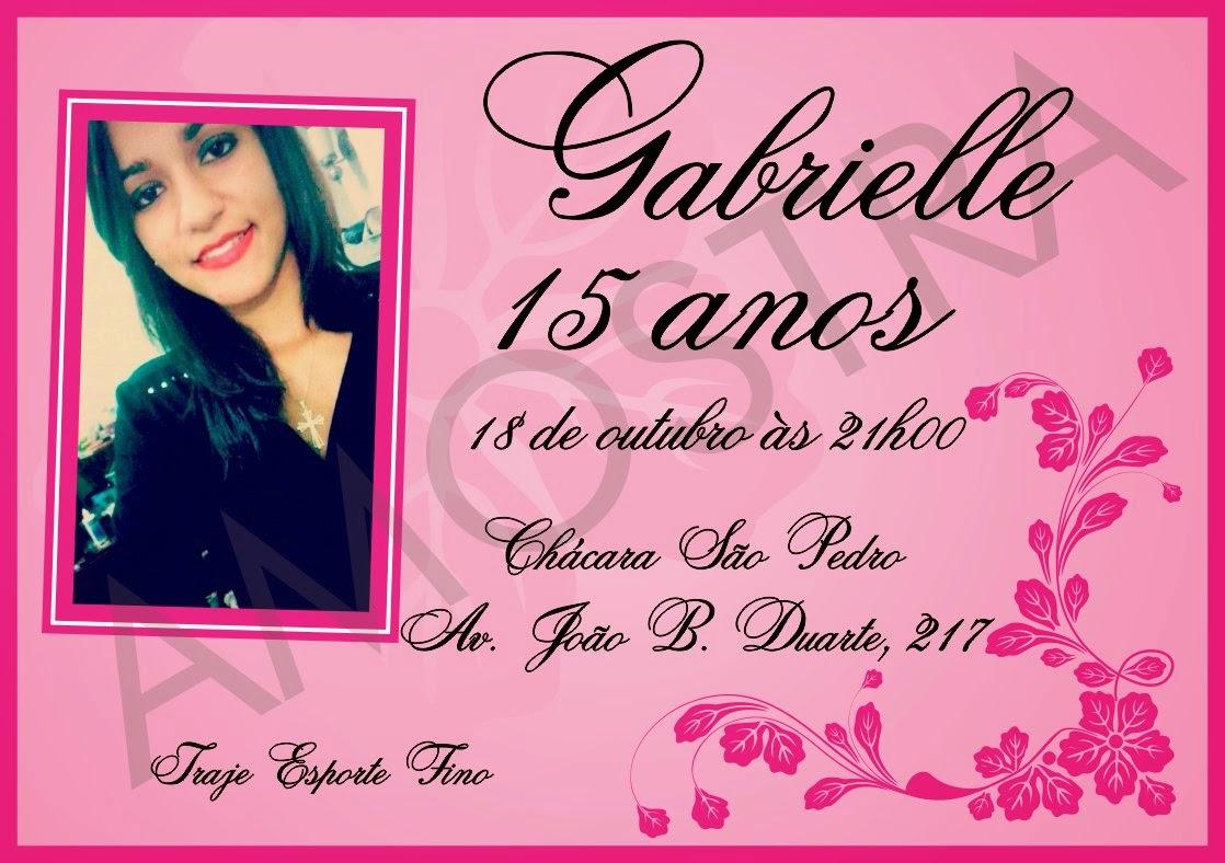 Blog Da Gabbi Convite