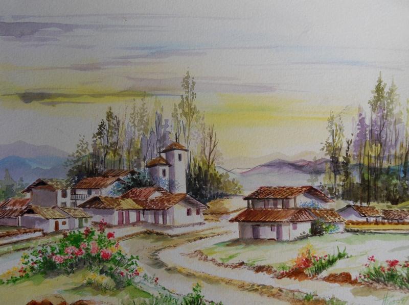 Paisajes y Bodegones: Paisajes en acuarela