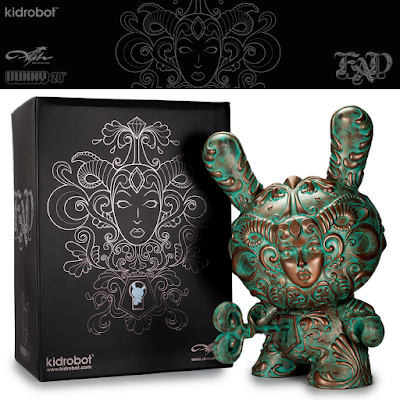 "Kidrobot Exclusive ""Patina"" It's a F.A.D. 20"" Dunny by J*RYU"
