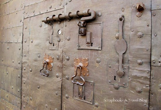 Secure door of one of the homes Assisi Italy