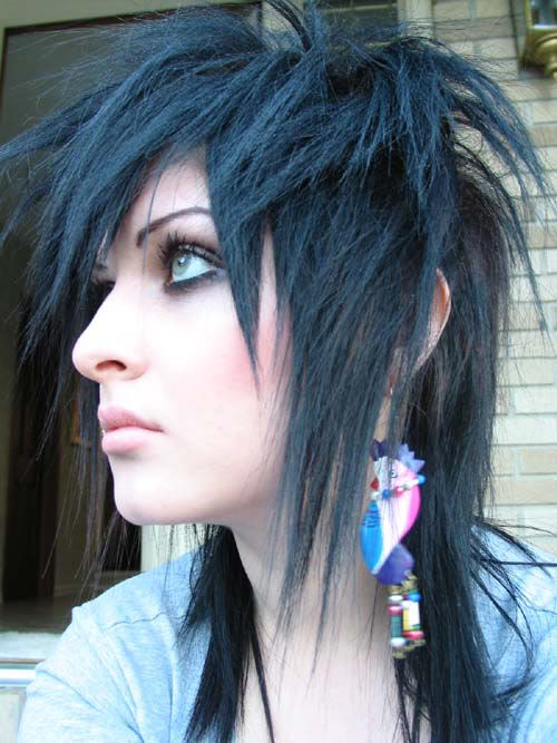 cool hairstyles for curly hair : Welcome to Emo Fashion World: Cool Emo Hair Style For Girls