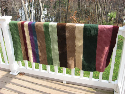 My 2011 Scrap Afghan in Crocheted Woven Stitch ~ Complete!