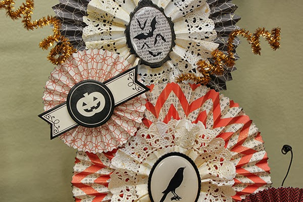 Halloween Rosette Wreath by Juliana Michaels detail