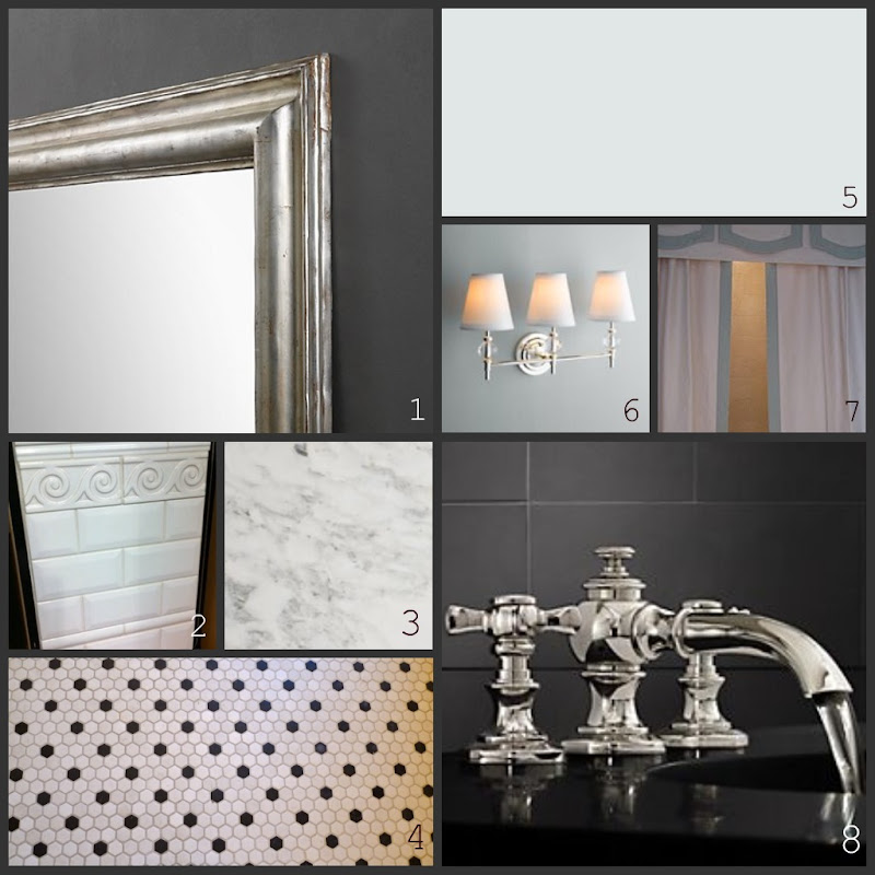 DIY silver leafed mirror (image via Restoration Hardware ) title=