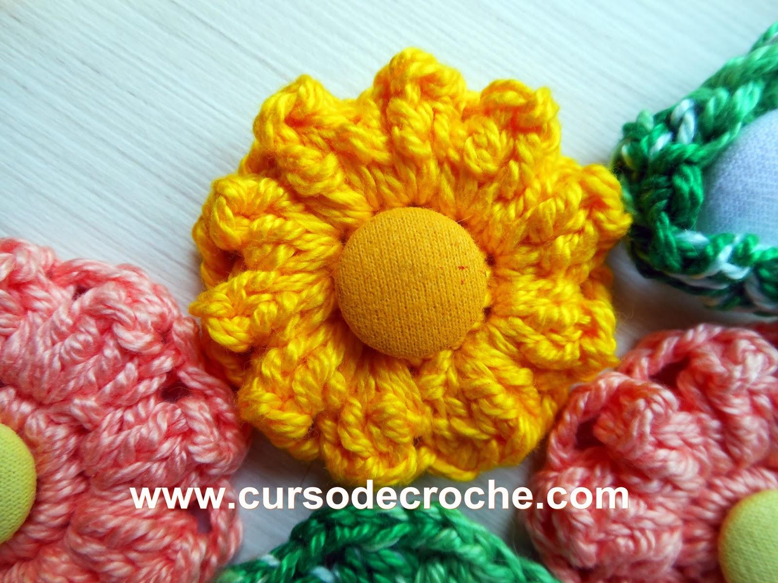 flores e folhas em croche dvd 5 volumes da coleção aprendi e ensinei com Edinir-Croche