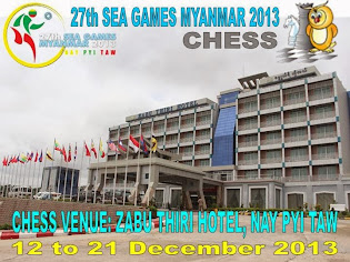 SEA GAMES XXVII MYANMAR 2013 - Cabor CATUR (CHESS)