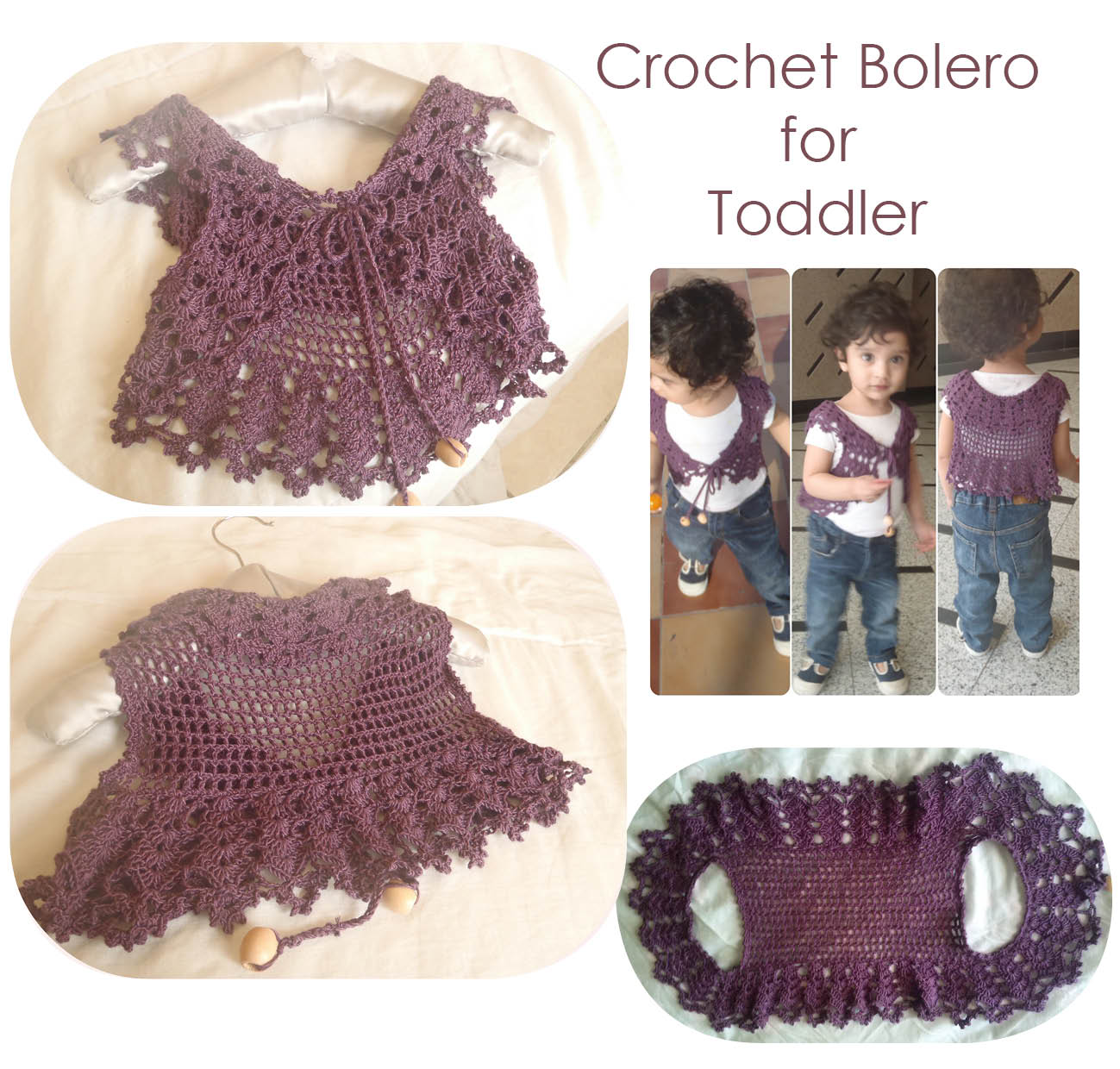 The Zen Crocheter: Lace vest / bolero / shrugs for toddler