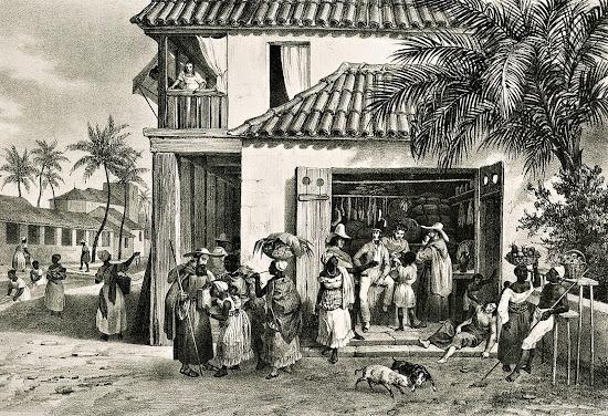 Mauricio Rugendas - Recife, capital de Pernambuco, meados da década de 1820.