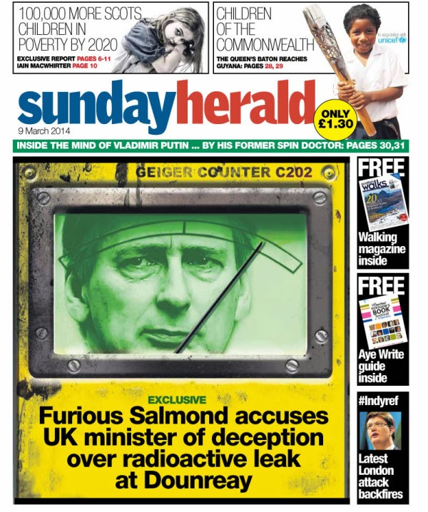 This week's @newsundayherald front cover on Twitpic
