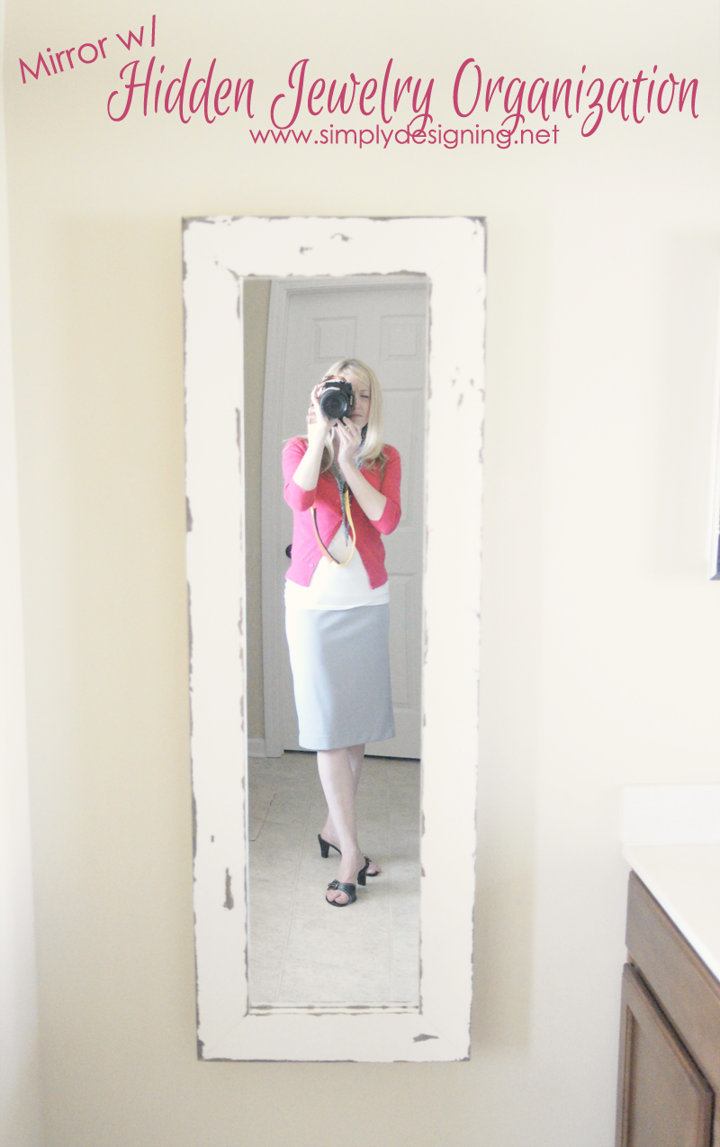 DIY Framed Mirror | this is sooooooo cool!!  | #diy #homeimprovement #homedecor #spon