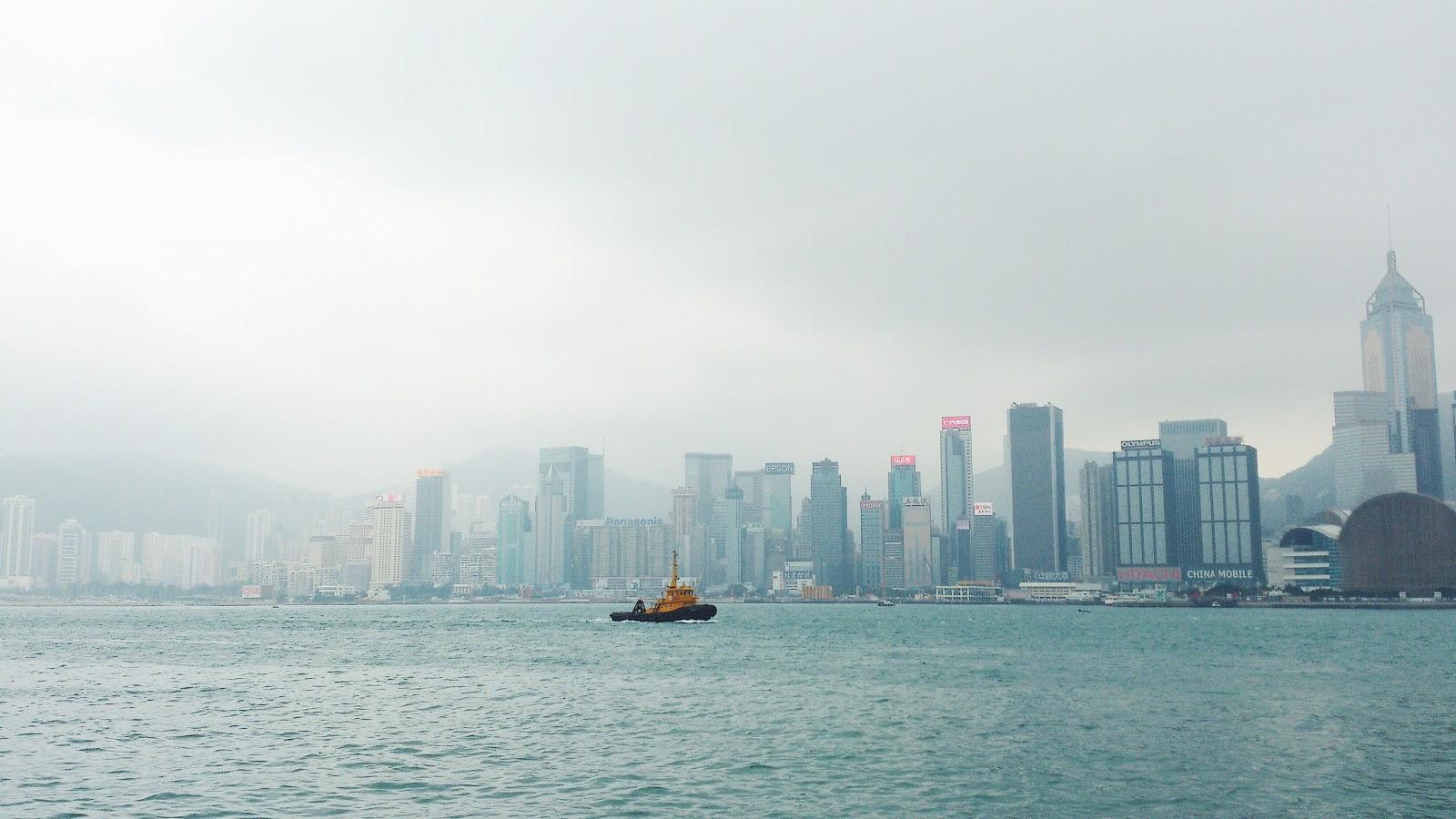 Гавань Виктория Гонконг