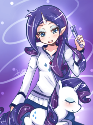 Her hair was driving Humanized Rarity crazy