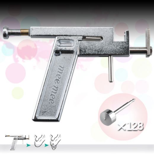 navel piercing gun. actual ear piercings gun,