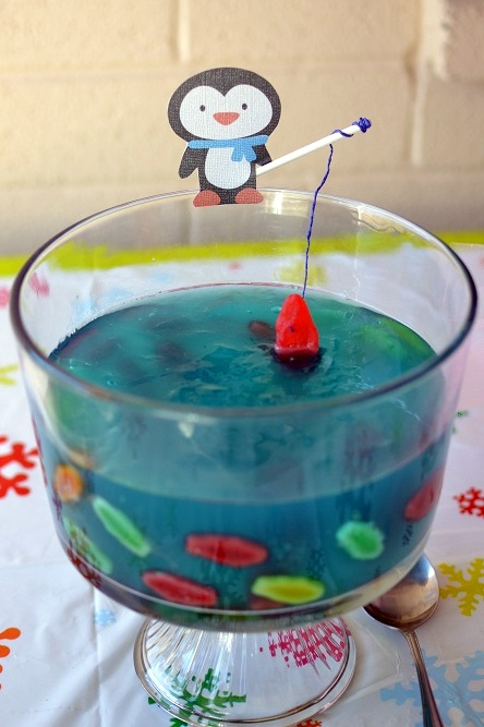 and make a big jello lake for some penguin fishing