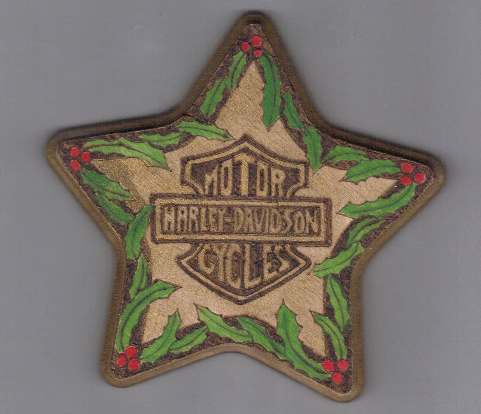 The Knothole News: Harley Davidson Christmas Ornaments on Wood