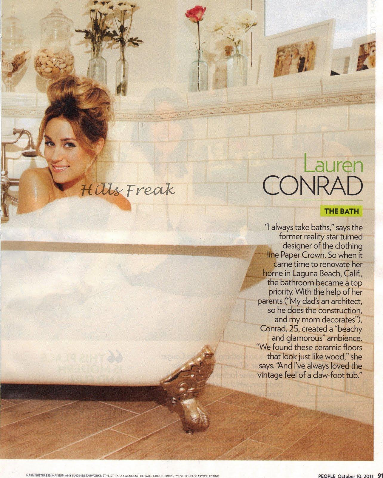 lauren conrad bathroom. Lauren Conrad s Favorite Room  Scans From People Magazine Hills Freak