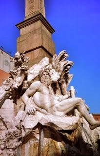 Bernini Four Rivers fountain Piazza Navona Roma