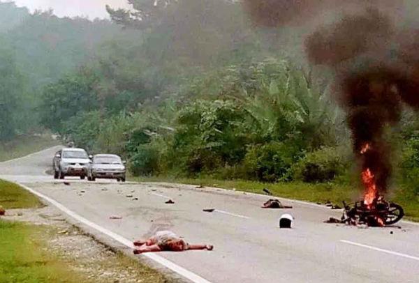 Motor Meletup Angkara Bom Buatan Sendiri, Sepasang Suami Isteri Maut
