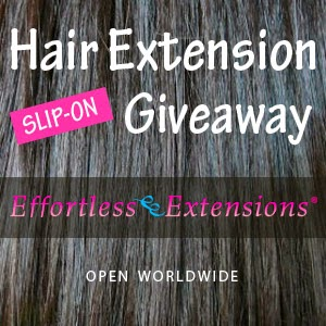 Enter the Hair Extension Giveaway. Ends 3/30.