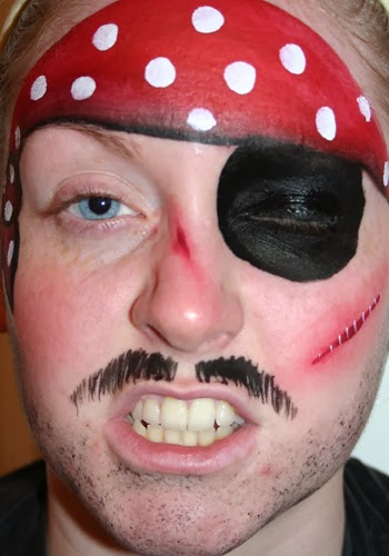 Pirate Face Painting