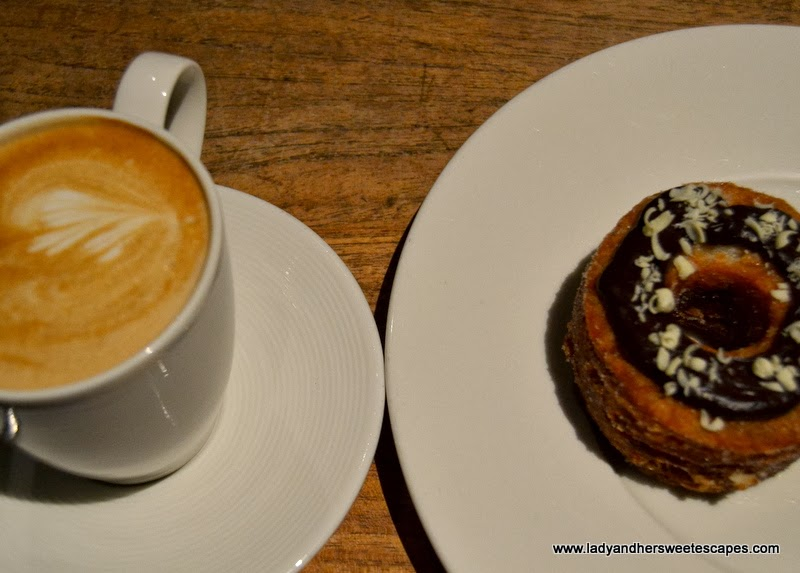 Baker and Spice's Latte and Cronut