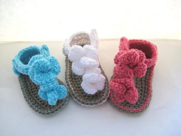Crochet Pattern Baby Booties Orchid Sandals : Crochet Dreamz: Orchid Sandals Crochet Baby Booties Pattern