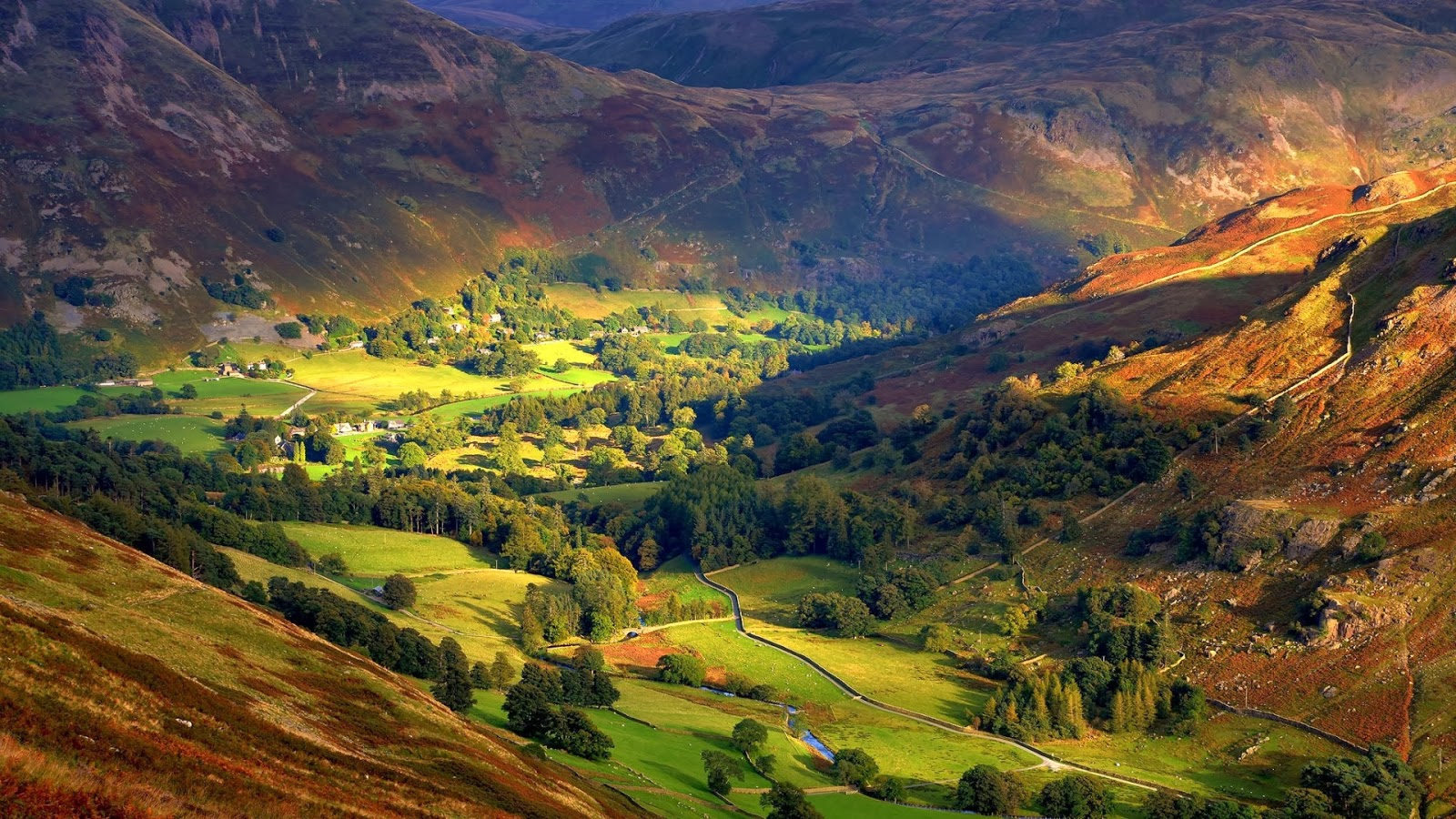 Beautiful Places On Earth England Valley Wallpaper