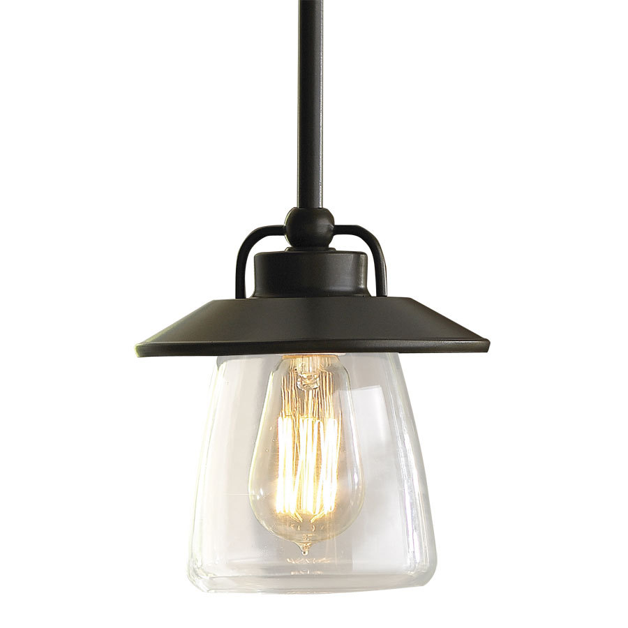 mission bronze edison mini pendant light with clear shade from lowe 39 s. Black Bedroom Furniture Sets. Home Design Ideas
