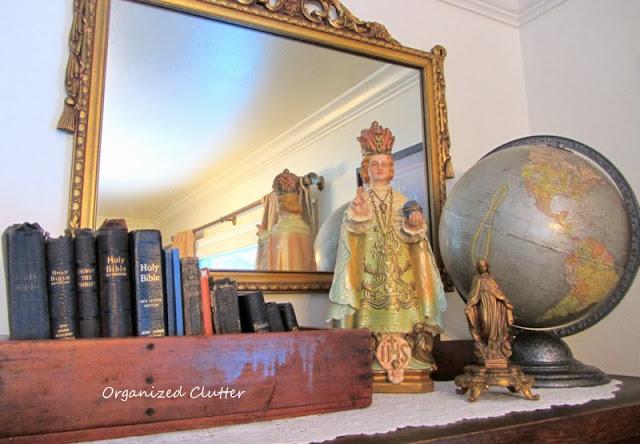 Bible & Prayer Book Collection, Infant of Prague www.organizedclutterqueen.blogspot.com