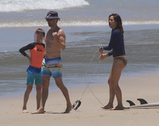 At New South Wales, Australia on Saturday, December 27, 2015, Princess Mary went barefoot in a brown bikini with a dark top to slenderize her positive activity alongside the husband of Denmark Prince, Frederick and their 4 childrens.