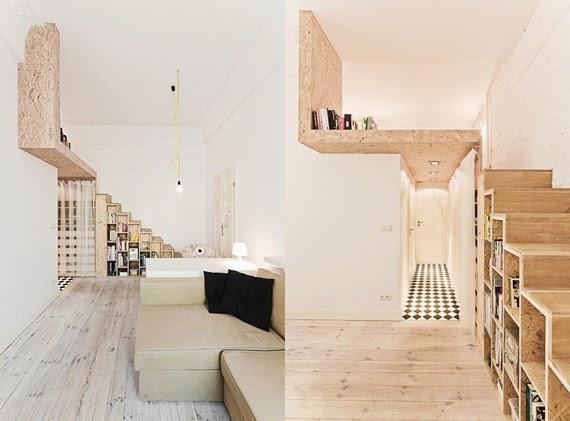 apertado e alto - loft - apartamento pequeno - pé direito alto