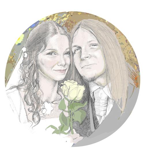 portret ślubny na zamówienie