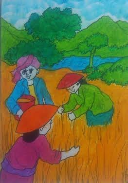 Helga Maritza Putri Mewarnai Gambar Berjudul Petani Nah Hasil Tentang