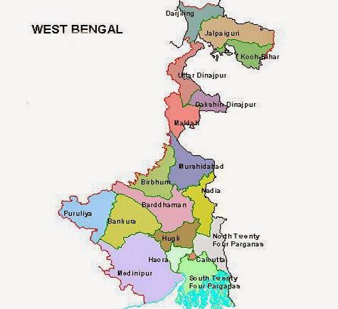 WEST BENGAL DISTRICT MAP  BHRAMAN BANGLA
