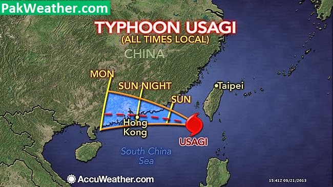 Super typhoon usagi reaches china pakweather the years most powerful typhoon after 34 years was grinding closer to hong kong tongiht usagi the severe typhoon packing sustained winds of 109mph gumiabroncs Images