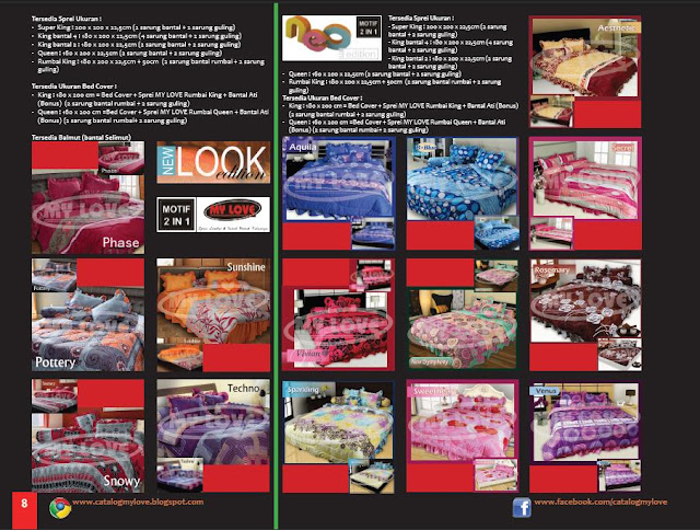 Katalog Buku LOVIE edisi 4 Tahun 2012 Page 8 : Sprei dan Bedcover My Love New Look Edition dan NEO Edition