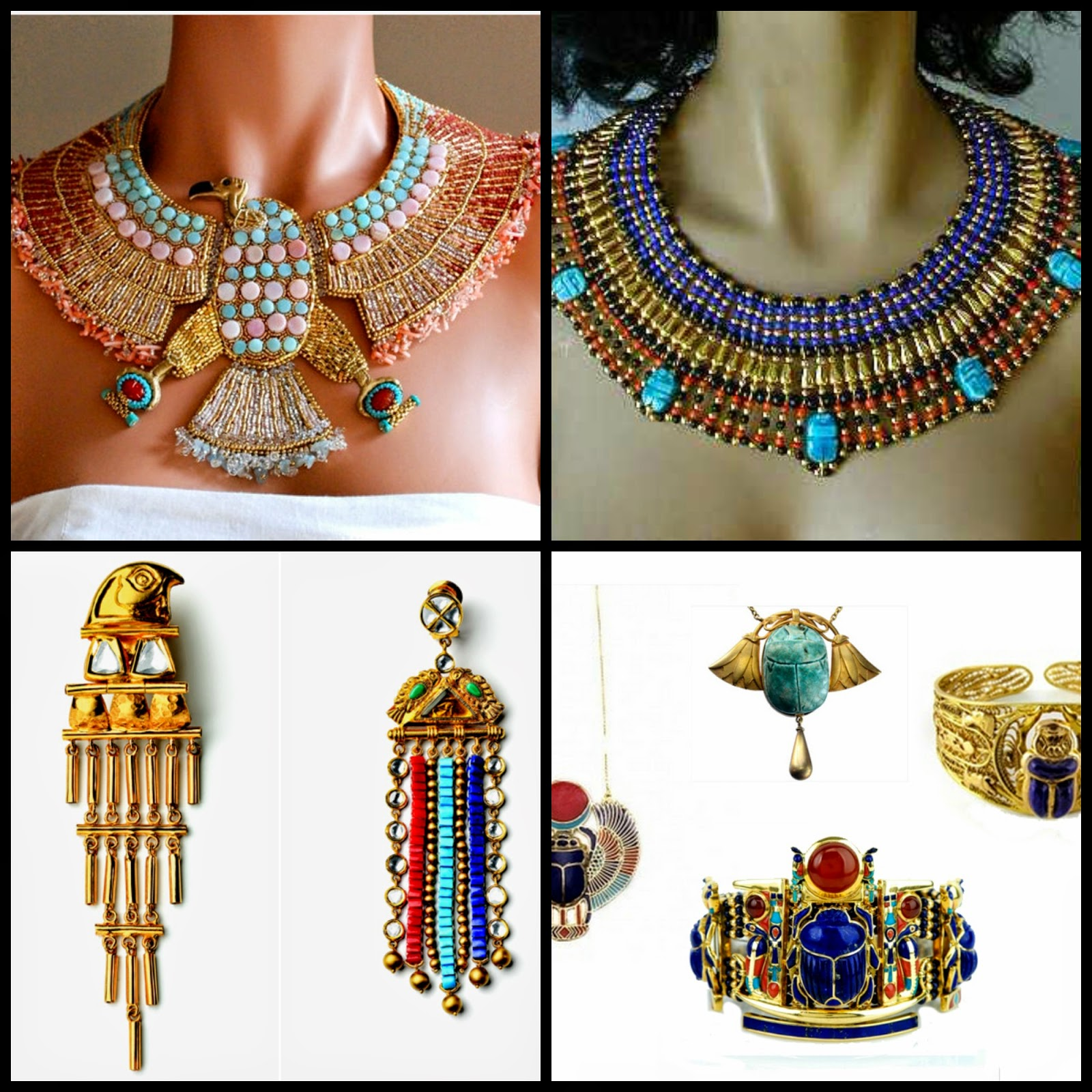 Contextual studies ancient egyptian inspiration jewelry for Egyptian jewelry