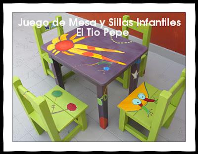 Muebles el tio pepe juego de mesa y sillas infantiles for Muebles infantiles mesas y sillas