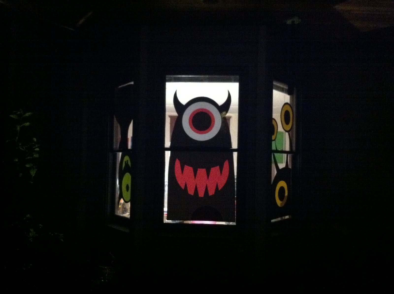 This Years Halloween Window Decorations Eachean Can Draw