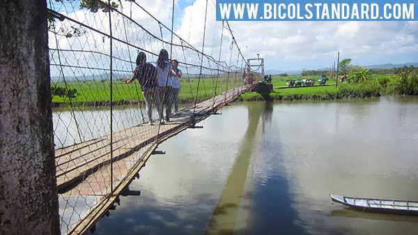 Hanging bridge in Gainza, Camarines Sur