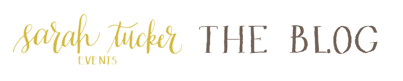 sarah tucker events : the blog