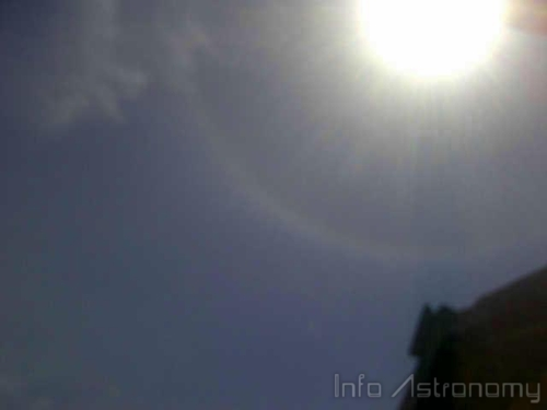 Foto-foto Halo Matahari di Indonesia 21 Agustus 2013
