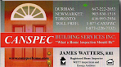 Ajax Canspec, James Watters Home Inspector Home Inspection Services Ajax in Ajax