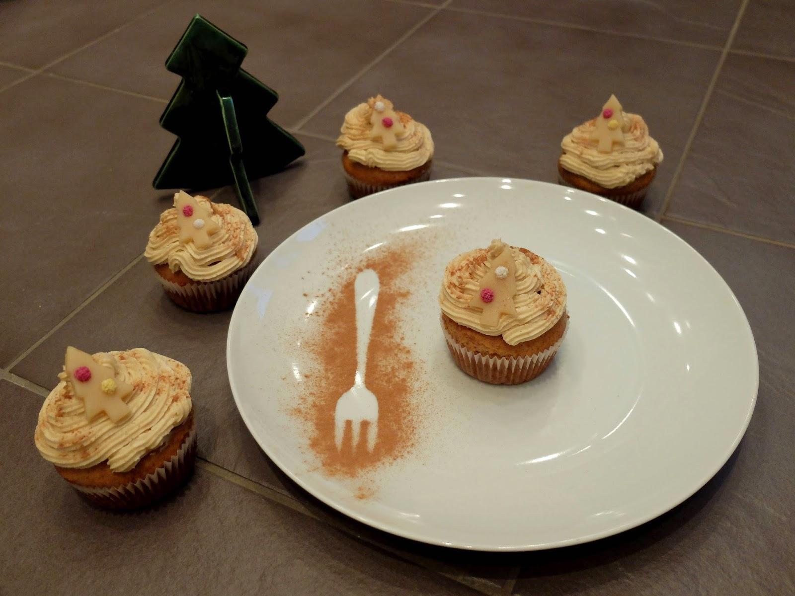 Veganer Cupcake Weihnachten