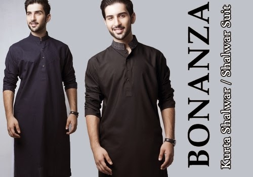 Bonanza Mens Eid Salwar Suits 2014