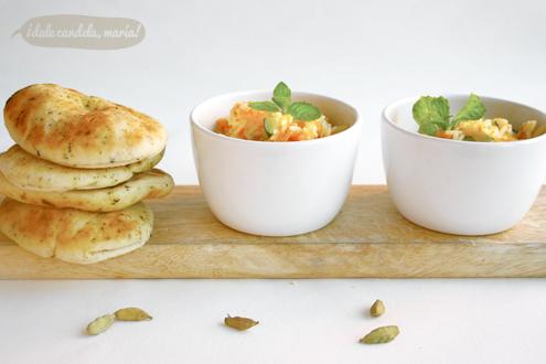 cacitos de arroz indio con verduras y cardamomo