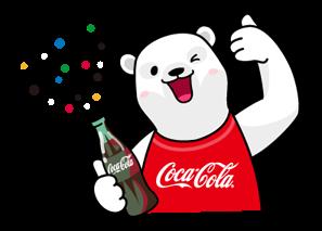 coca cola olympic version stickers