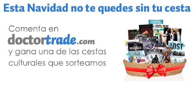 Imagen promocional del sorteo de cestas culturales de Doctortrade